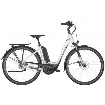 Vélo électrique BERGAMONT E-HORIZON N8 FH 500 WAVE WHITE E-TREKKING 2020 Bosch Active Plus 500Wh PowerPack